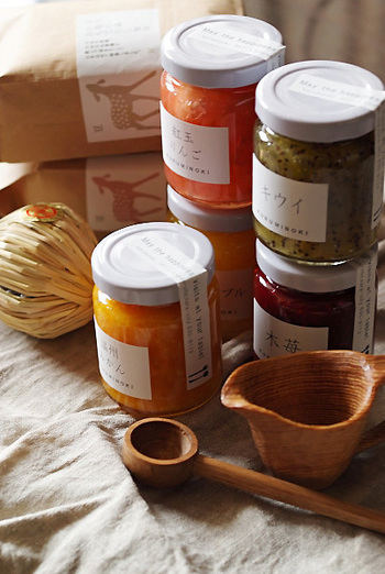「くるみの木オリジナルジャム」は、糖分を控え果実そのものの味を楽しめる絶品です。