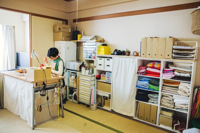 リビングと隣接しているFABBRICAさんの仕事部屋