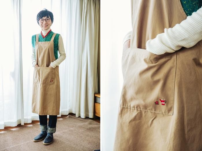 洋服づくりは今も好きで、今後はサイズを気にせず作れるエプロンから展開していきたいと話すFABBRICAさん
