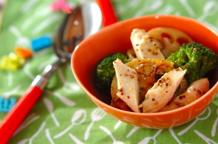 一汁一菜のようなシンプルで淡白な食卓には、お子様が好みそうな彩りをプラスしてみると食欲UPにつながります。カラフルな野菜を上手に取り入れながら、お子様の食べやすい甘めの味付けにしてみるのも良いでしょう。