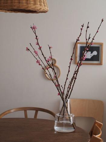 例えば、お部屋に雛飾りをしつらえたり、桃の花を生けたりといった、感性を生かした大人ならではの楽しみがあります。