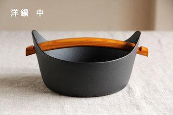 こんな洋風の鉄鍋「洋鍋」も作っているそうですよ。シンプルでお洒落ですね。