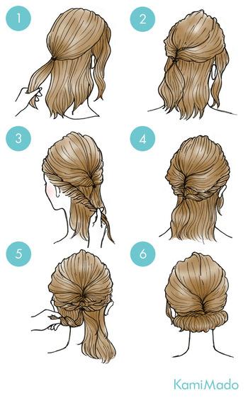 プリンセスのような上品アップも簡単に♪トップの髪をまとめてくるりんぱして、サイドの髪をねじってくるりんぱの毛束と結びます。残った毛先を少しずつ丸めてピンで留めて、全体をほぐしたら完成!