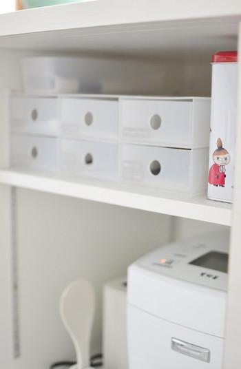 シンプルなのに、しっかりとしているのでリビングから、キッチン、洗面所など活躍する幅の大きい収納用品です。