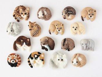 ほかにも、ゆかいな仲間たちがいろいろ。動物のリアルさとマスコット的な可愛らしさのバランスがとてもいいですね。手作りの参考にしてみてはいかが?
