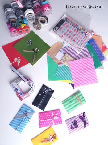100円ショップにも素敵な柄の折り紙が売っているんですよ!こんなに可愛くて100円なら、たくさんそろえたくなっちゃいますね♪