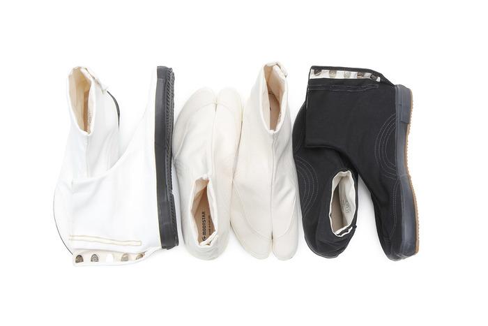 祭事で履く地下足袋をベースに作られたムーンスターの「JIKATABI(地下足袋)」モデル。100年以上変わらない伝統的なヴァルカナイズ製法の地下足袋は、久留米にて誕生しました。
