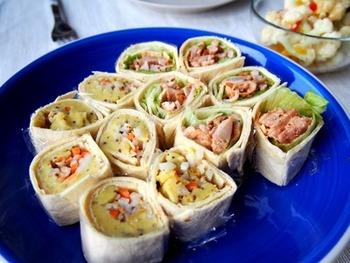 パーティーには、こんな風に一口サイズにカットしてお出ししても、食べやすくていいですね!