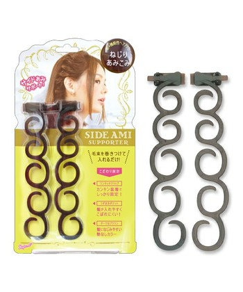 自分ではなかなかうまく編み込めない…という方は、こんなお助けアイテムにトライ。髪に巻くだけで、プロ並みのアレンジが簡単にできますよ!