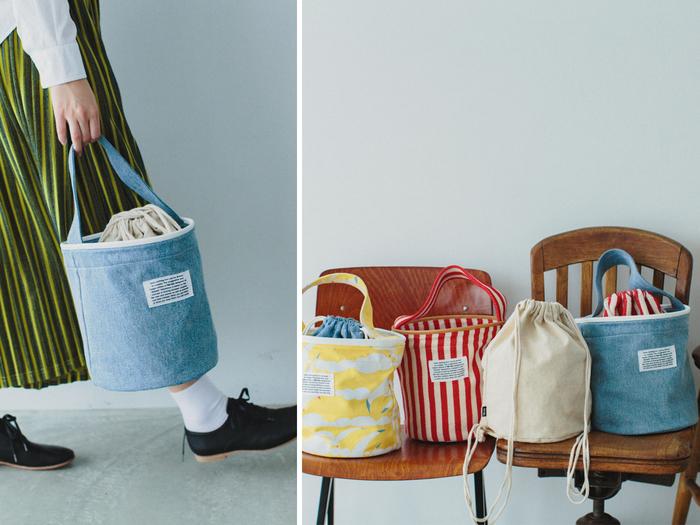 雑貨にも気分で自由に使い方を楽しめるアイテムが。ブランドの新定番「pickable(ピッカボー)」シリーズから、バケツ型バッグとナップサック型のインナーバッグのセットが登場。組み合わせて使っても良いし、別々に使っても楽しめるから、「ちょっとそこまで」のコーディネートも広がりそう。