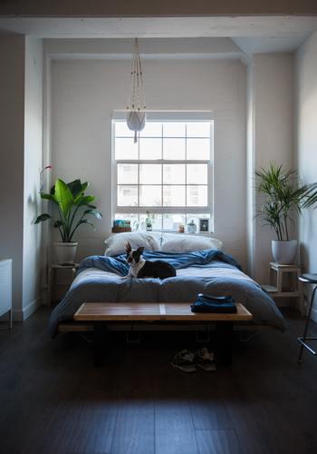 枕元が窓に向くレイアウトは、太陽の光で自然と目が覚めやすいというメリットがあります。 しかし、一方で、窓から伝わる冷気やすき間風で布団から出ている部位が冷えやすくなるというデメリットも。