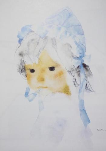 いわさきちひろさんの作風は、どこかノスタルジックでロマンティックな水彩画。子度をも描くことが多く、絵本の挿絵家としても活躍されました。「子どもの幸せと平和」を願い続けた絵は、やさしく慈愛にあふれて眺めているだけで穏やかな気持ちになります。