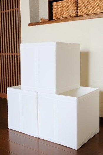 IKEAと言えば収納アイテムも豊富ですよね。SKUBBシリーズにはボックスや衣装ケース、シューズボックスやランドリーバッグなど、用途に合わせて一通り揃えられるので美しい収納が叶います。