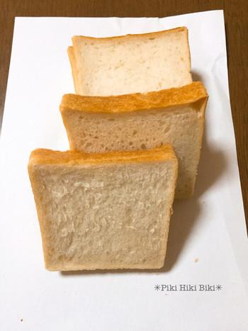 北海道産の小麦粉「春よ恋」と天然酵母を使いじっくり発酵させて焼き上げた優しい味わいのパンです。レーズンから起こした自家製天然酵母、あこ天然培養酵母、発芽玄米種「むすひ」の酒粕を培養した天然酵母と3種類の酵母を使っています。