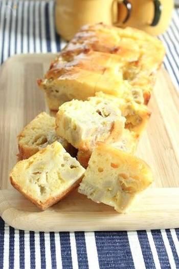 バナナ&ヨーグルトを使った朝ごはんにもぴったりなワンボールで出来るケーキ。熟したバナナを使うのが美味しさのひみつ!