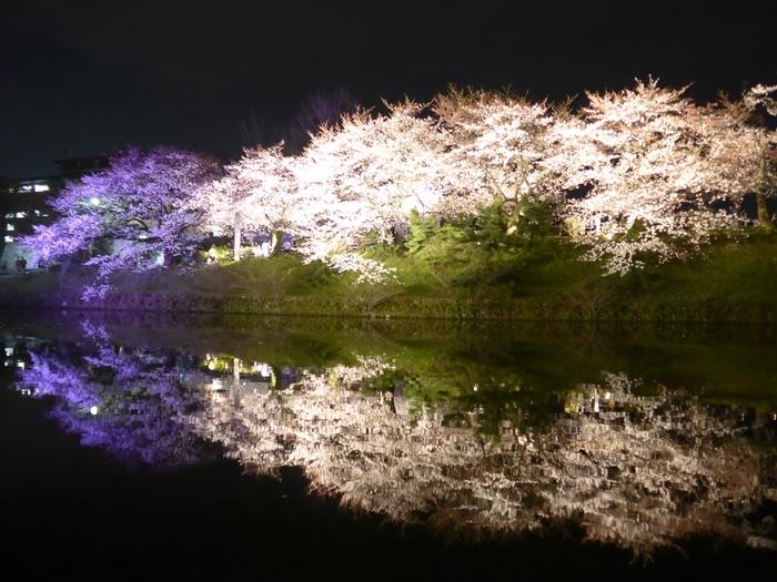 3/24~4/8まで「福岡城さくらまつり」が開催され、18:00~22:00までライトアップした桜を楽しめます。ライトに照らされた夜桜は、昼とはまた違った幻想的な美しさ。3/28~4/8までは屋台も出店していますよ。桜を観賞しながら、美味しいグルメを堪能しましょう!