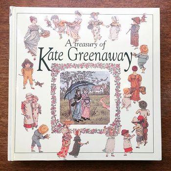 イギリスの絵本賞であるケイト・グリーナウェイ賞は1956年以来、その年に出版された絵本の中で特に優れた作品を表彰しています。名前の由来となったケイト・グリーナウェイは繊細な線の美しいイラストレーションで人々や自然を描いたイギリスの絵本作家です。 画像はケイトグリーナウェイの画集。