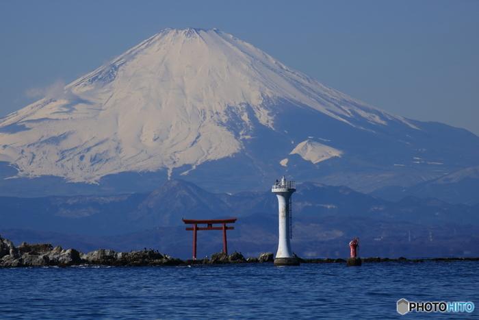 富士山や裕次郎灯台も望めます。