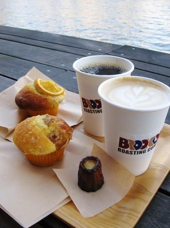 産地、農園、製法にもこだわり抜いた、コーヒー好きが作る、コーヒー好きのためのコーヒーを、颯爽といただきましょ♪「テイクアウト用のカップもメッチャお洒落やなぁ♪」