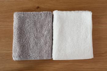 朝洗顔後やシャワーの後、このタオルで顔や体を拭いたら、1日の始まりも気持ちよく迎えることができる。そんな幸せになれるタオルです。