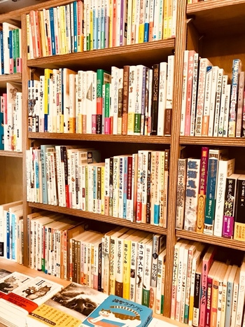 写真集や画集だけでなく、主人公がネコを飼っている小説とか、ネコが表紙に描いてある人文書なども置かれています。幅広いラインナップなので、お気に入りの書籍もたくさん見つかりそうですね。