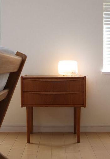 柔らかな灯りが楽しめる間接照明としても使える優れものなんですよ。ちょっと灯りがほしい夜にも素敵です。