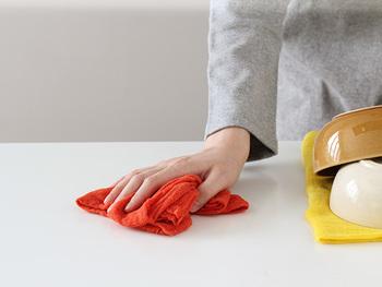 衛生上のことを考えるなら、使う場所ごとに別にするのもいいですね。吸水性・速乾性が良く、汚れを落としやすいガーゼの重ね縫いや蚊帳生地などがおすすめです。