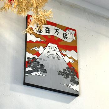 鎌倉、逗子、葉山、横須賀など、地元・湘南を拠点に活躍するクリエイターたちとコラボレーション。ところどころに遊び心あふれるアートが飾られていますよ。