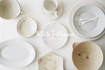 DAHLIA★さんのお宅で日常的に登場するのは白く丈夫なイタリアの業務用食器『Saturnia サタルニア』、『iittala TEEMA(イッタラ ティーマ)』シリーズの中でも白いお皿だそう。