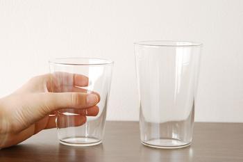 「THE GLASS(ザ グラス)」は、「最もグラスらしいグラスとは何か」を徹底的に考えて作られました。日常の様々なシーンで、活躍してくれそうなシンプルさが魅力。