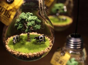 こんな風に中にジオラマを入れて、小さな世界を表現するのも素敵です。