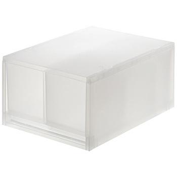 ③真ん中に仕切りがついているケースもあります。商品の大きさは②と同じく幅26×奥37、高さは、17.5cmと12cmがあります。※32.5cmの3段セットもあります。