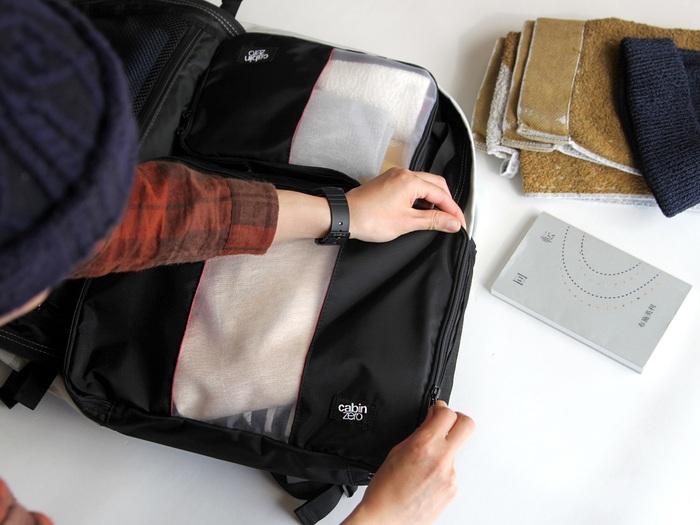 「旅行は大好きだけど、パッキングはどうも苦手…」そんなあなたは、ポーチやパッキングボックスを賢く使えているか改めて見直してみるといいかもしれません。着替え用、小物用、貴重品用など用途別にいくつかそろえておくと荷造りがぐっと楽になります!