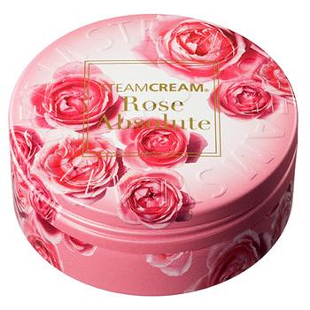 華やかで上品なバラをモチーフにしたパッケージデザイン。クリームにも高品質なダマスクローズエキスがたっぷり配合され、保湿効果もバッチリ◎