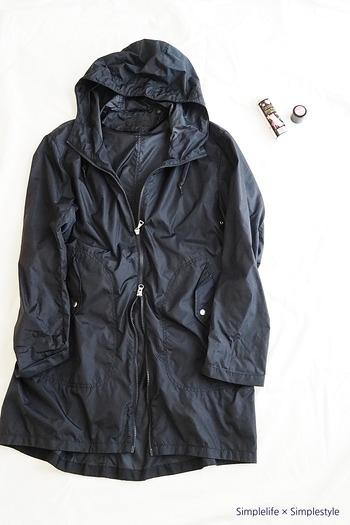よく羽織るレインコートも同様に、スプレーしておきましょう。 しっかり乾燥させる必要があるため、梅雨前に行うのがベストです。