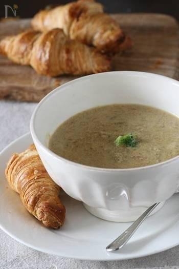 豆乳をたっぷり入れたカレースープ。簡単にもう一品できてしまうので、忙しいときにも便利!