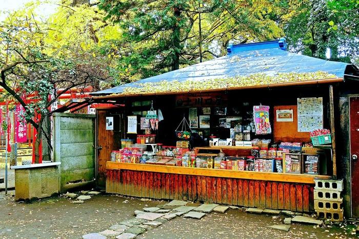 鬼子母神の入口に佇む「上川口屋」。実はこのお店、1781年に創業した日本最古の駄菓子屋なのだそう。きなこ棒やふ菓子、ポン菓子など、昔懐かしい駄菓子がずらりと並んでいます。手作り市のついでに、ぜひ立ち寄ってみてくださいね。