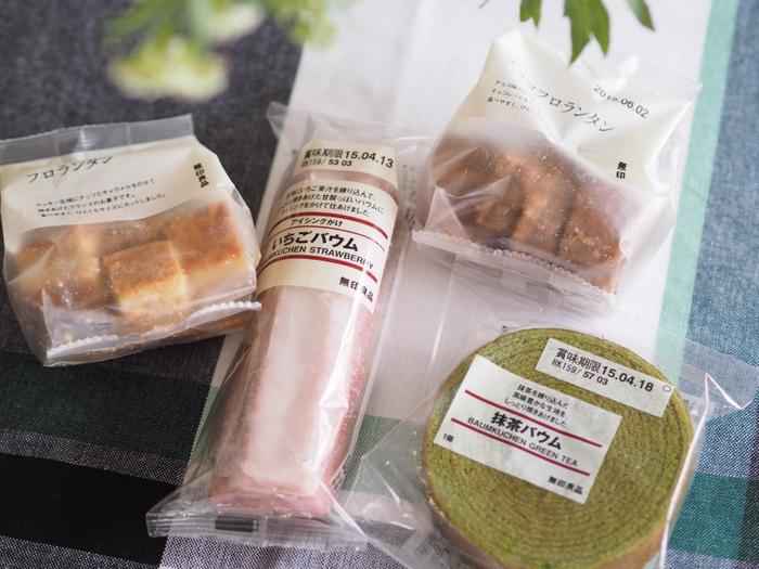 色々なフレーバーがあるバウムクーヘンやビスケットなどのお菓子もおいしいと評判。春は桜のクッキーなど季節のスイーツも登場します。