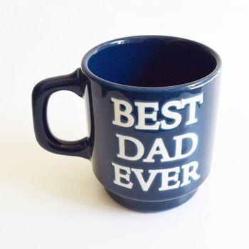 「BEST DAD EVER」……つまり「史上最高のお父さん」! 照れ屋さんは、いつもは言えないメッセージを、こんなかわいい「マグ」などで伝えてみては?  何げなく毎日使ってもらえそうなのも嬉しいところです。
