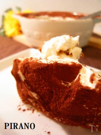 コーヒー味のスイーツといえば、ティラミスを思い浮かべる人も多いのでは?こちらは、簡単に作れる、軽い食感のティラミス。ティータイムに、デザートにも。