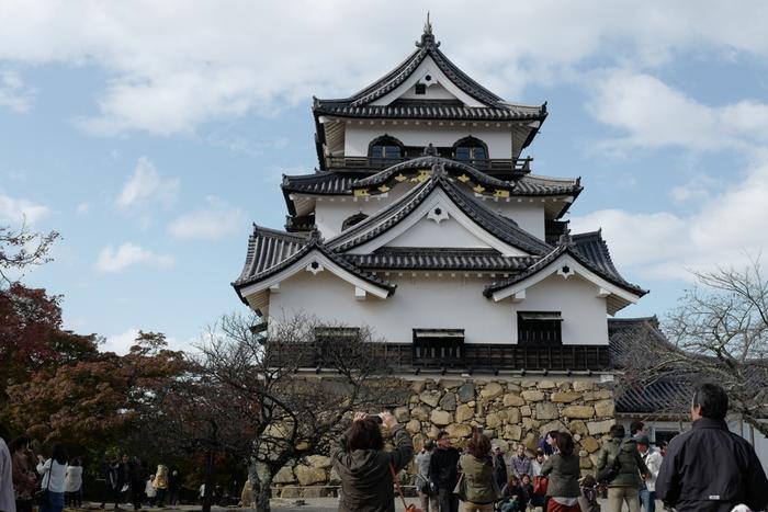 1604年、徳川家康の命により築城されたのが「彦根城」です。天守や天秤櫓などを他の城より移築し、わずか2年の歳月で完成しましたが、城郭の完成までには20年もの月日がかかったとされています。彦根城は天守が現存するお城の1つで、これまでに5回もの大改修を終え、美しい白壁を見ることができます。国宝に指定されています。