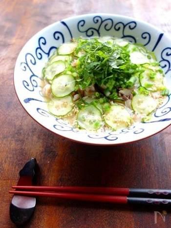 食欲がない時や疲労困憊の時にもオススメの冷汁も味噌玉があれば簡単に作れます。サラサラいただける簡単アレンジレシピです。これからの季節に良さそうですね。