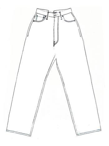 """今シーズン注目はなんといってもハイウエスト。マリリンモンローのLevi's""""701""""をはじめ、40-50年代の往年のスターが着用していたデニムがアイコンになった、少しレトロな雰囲気を感じるシルエットです。ジャストウエストで穿くことでウエストはコンパクトなるのに対してヒップは余裕が生まれ、非常に女性らしいシルエットになります。Tシャツやブラウスをインすることでシルエットが最大限に引き出され、品のある大人カジュアルスタイルに。今年らしいデニムをお探しの方は、迷わずこちらをお選びください。"""
