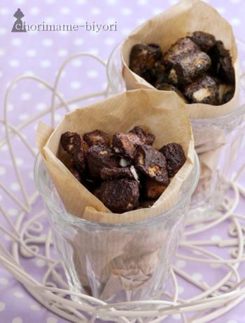 口に入れた瞬間、パフパフジュワ〜っとチョコ染みだすあのお菓子、なんとお麩で作れます!自分で作ればチョコの量も調節できます。これは是非試していただきたいレシピですよ♪