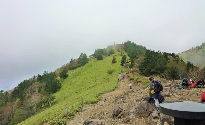 大菩薩峠。晴れると富士山から南アルプスまでダイナミックな眺望が広がります。霧の風景も幻想的。