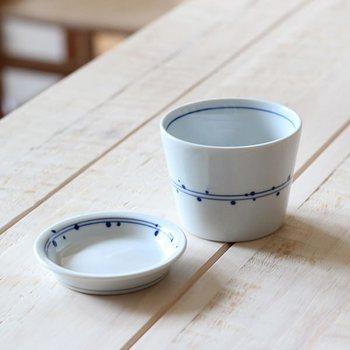 こちらは薬味皿がセットになったタイプです。薬味皿にドライフルーツなどのお茶受けを入れて、一息つけるティータイムにどうぞ。