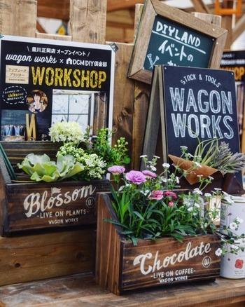 おしゃれな木製のケースを鉢ケースとして使うのもカフェっぽくて素敵ですね。お花や植物を飾るセンスがないかも・・という方、こんな小物の力をどんどん借りちゃいましょう!