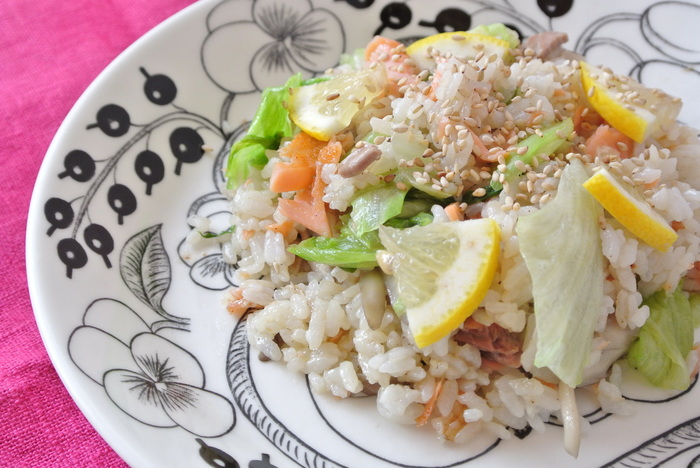 レモンは主食でも大活躍。ご飯にパスタ、パンやそうめんなど、お好みでレモンをプラスしてみるとハマってしまうかもしれません。