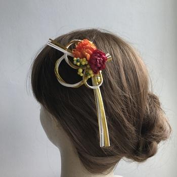 水引のヘアアクセは和装にもピッタリです♪