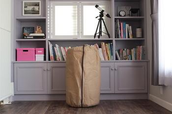「立てられる布団収納」という袋に入れれば、こんなにコンパクトにすっきりと収納することが出来ます。